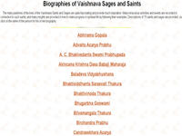 Biographies of Vaishnava Sages